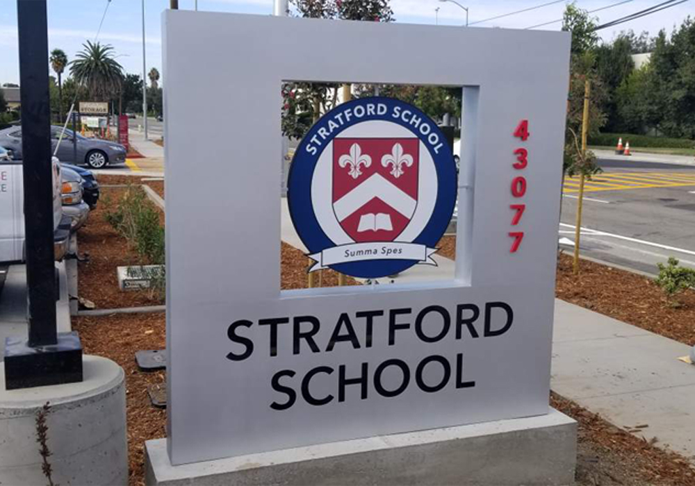 Architectural Monument Signs at the Stratford School