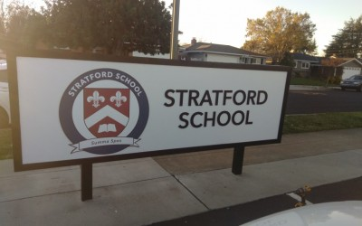 Stratford School Updates Signs at the Los Gatos Campus