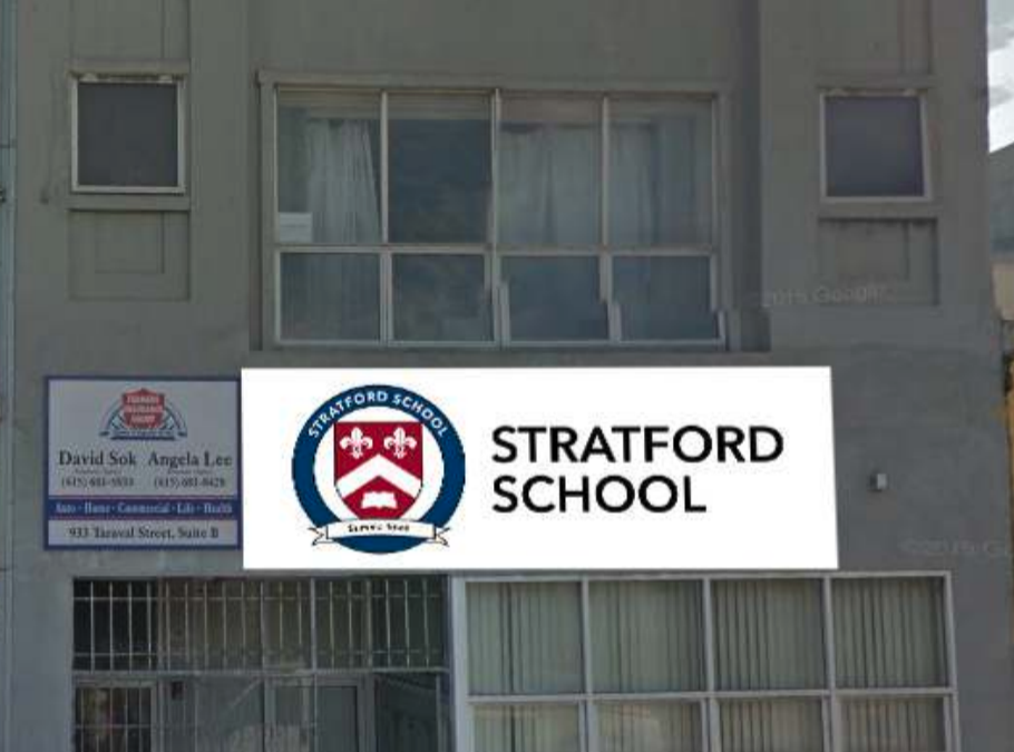 Building and Monument Signs at Stratford School, Los Altos